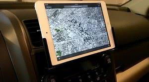 Рис.1. Планшет iPad с открытой картой