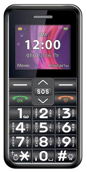 Телефон teXet TM-101