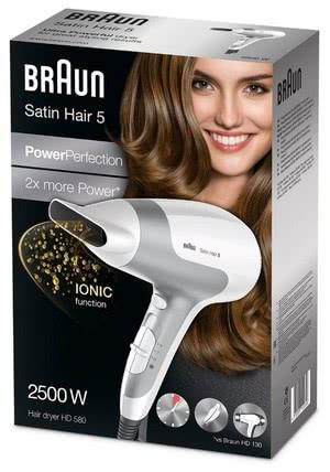 Фен Braun HD 580 Satin Hair 5