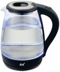 Чайник RIX RKT-1821G 1,8 л, 1500 Вт, корпус термостойкое стекло