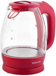 Чайник электрический BRAYER BR1045RD, 2200 Вт, 1,8 л, стекло, розовый