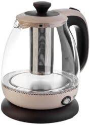 Чайник электрический BRAYER BR1046, 1100 Вт, 1 л, стекло, функция заваривания