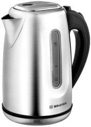 Чайник электрический BRAYER BR1014, 2200 Вт, 1,7 л, нержавеющая сталь, индикация, автоотключение