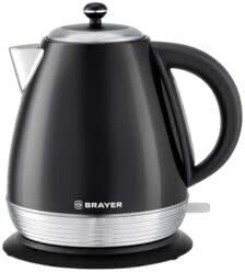 Чайник электрический BRAYER BR1006, 2200 Вт, 1,7 л, Strix, автоотключение, нержавеющая сталь, встроенный фильтр