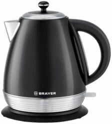 BRAYER 1006BR Чайник электрический BRAYER, 2200 Вт, 1,7 л, Strix, автоотключ, нержав.сталь, встроен.фильтр